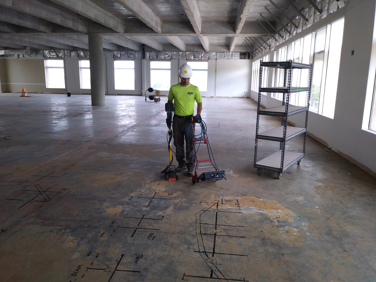 Locate Obstructions Embedded in a Concrete Slab at a facility in Phoenix AZ.jpg