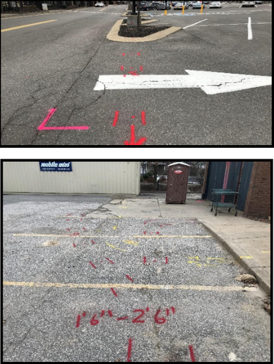 Utility Lines Found Using Radio Detection and GPR