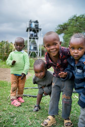 Ndabibi Kenya- children_ babies play smile happy water tower- August 2014.jpg