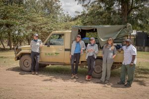 Exrock- Kareece Sarah Mike Mary and Kathryn in front of truck smile happy- November 2018.jpg