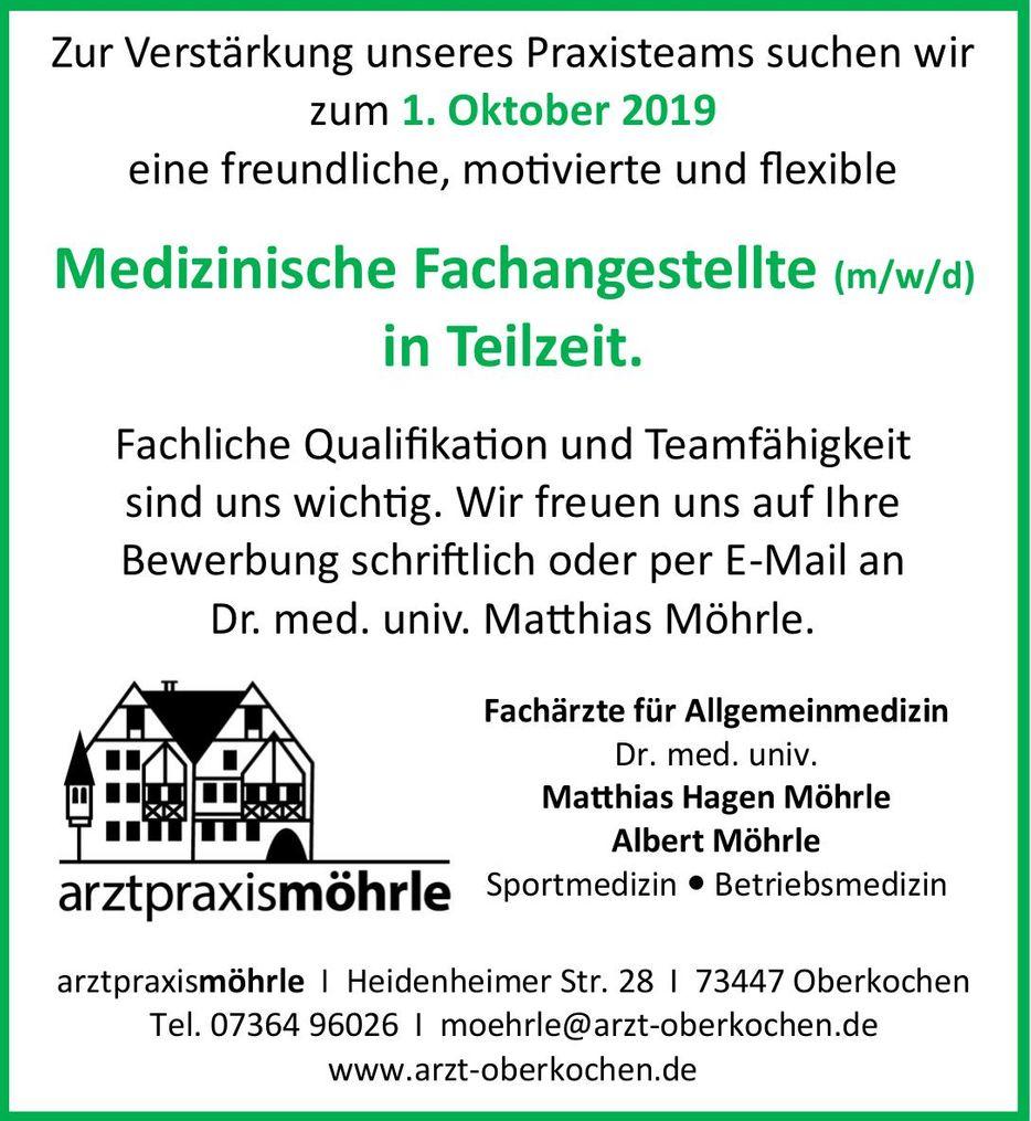 Arztpraxis Möhrle - Stellenanzeige MFA 2019.jpg