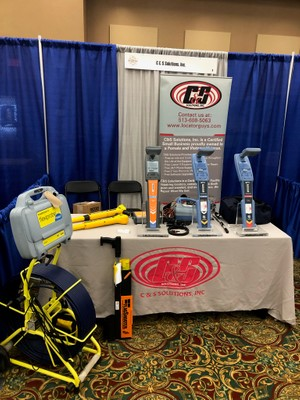 Our equipment booth setup at the 811 Midwest Damage Prevention show in French Lick, Indiana.
