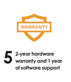 2 Year Hardware Warranty 1 Year of Software Support