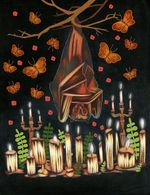 Stephanie Chambers-  Bats - Late July in the Garden