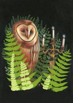Stephanie Chambers - Owl and Candelabra - If You Don't Look Towards the Light, the Darkness Will Eat You Alive