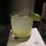 Green Dragon Margarita at W Austin's Living Room