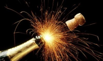 Fireworks and champagne for the New Year