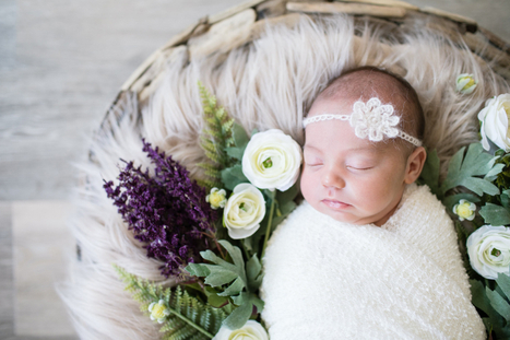 Cute Baby Girl Pictures with Flowers