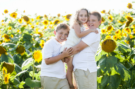 Family Pictures in Sunflower Field