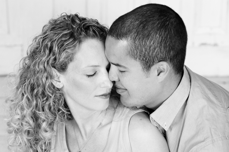 Maternity Photography Couples Black and White