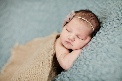Newborn Photography Burlap
