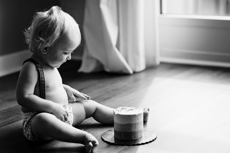 First Birthday Cake Photography