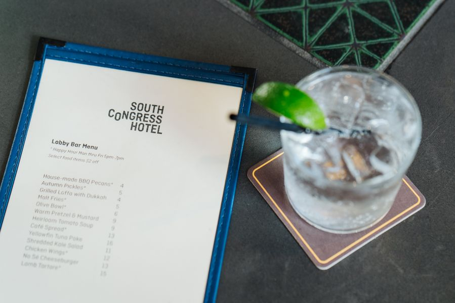 Coctails at South Congress Hotel