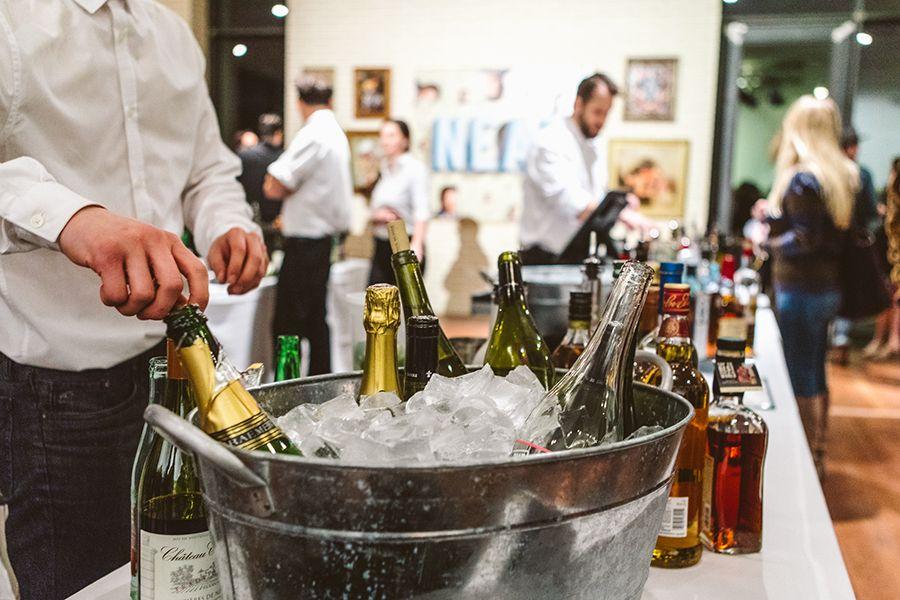 Bar at a social event