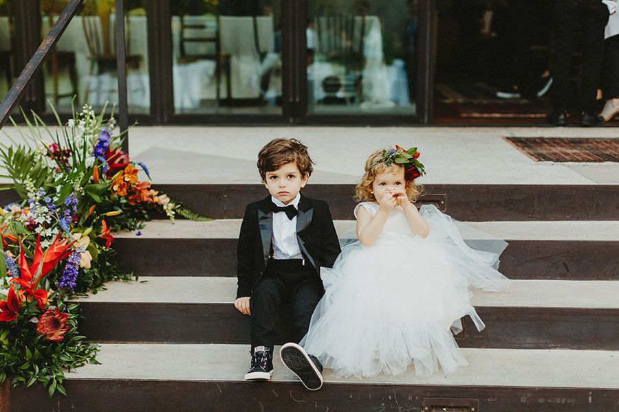 Children at a wedding reception