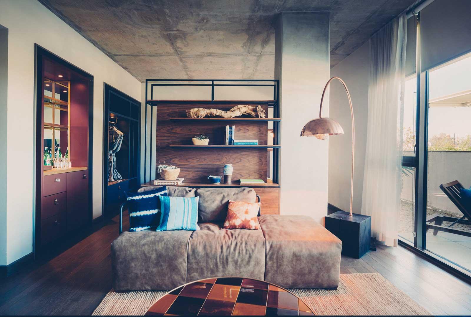 Poolside suite lounge area
