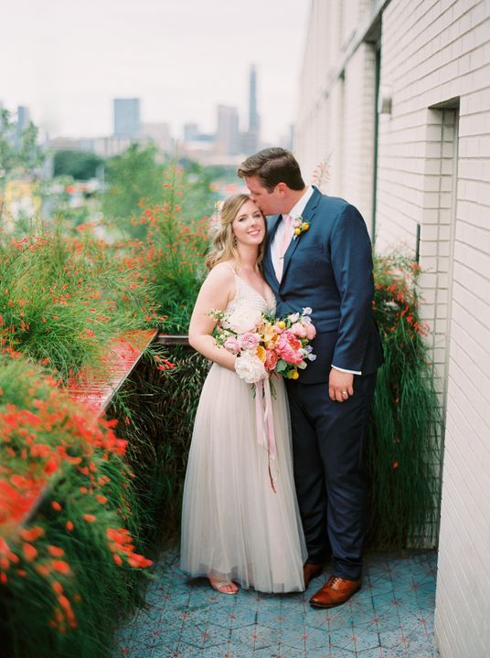 Newlywed photograph at South Congress Hotel
