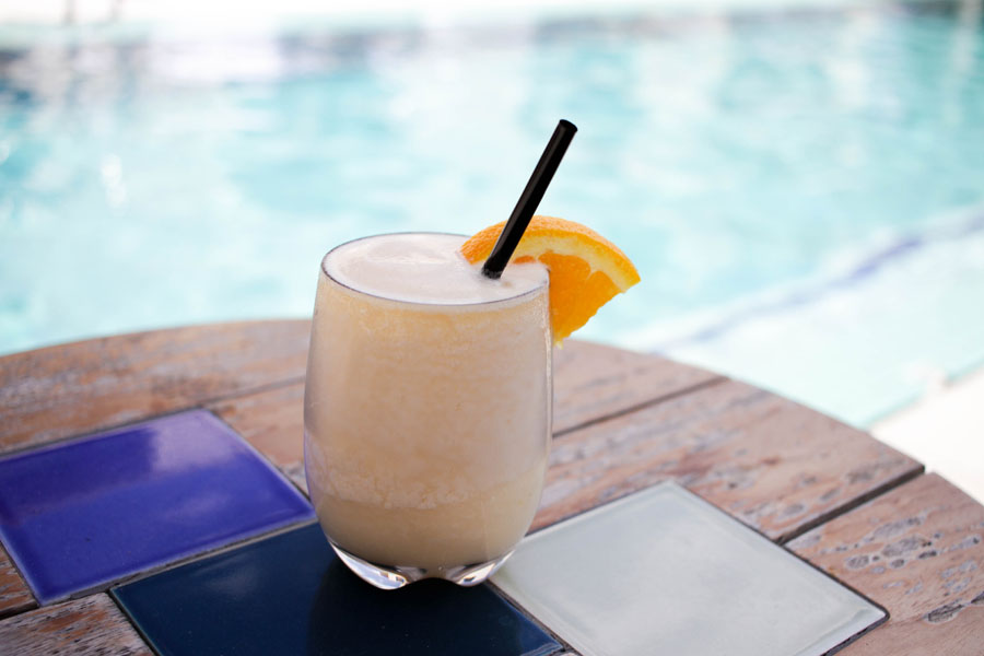 Drink by the South Congress Hotel pool