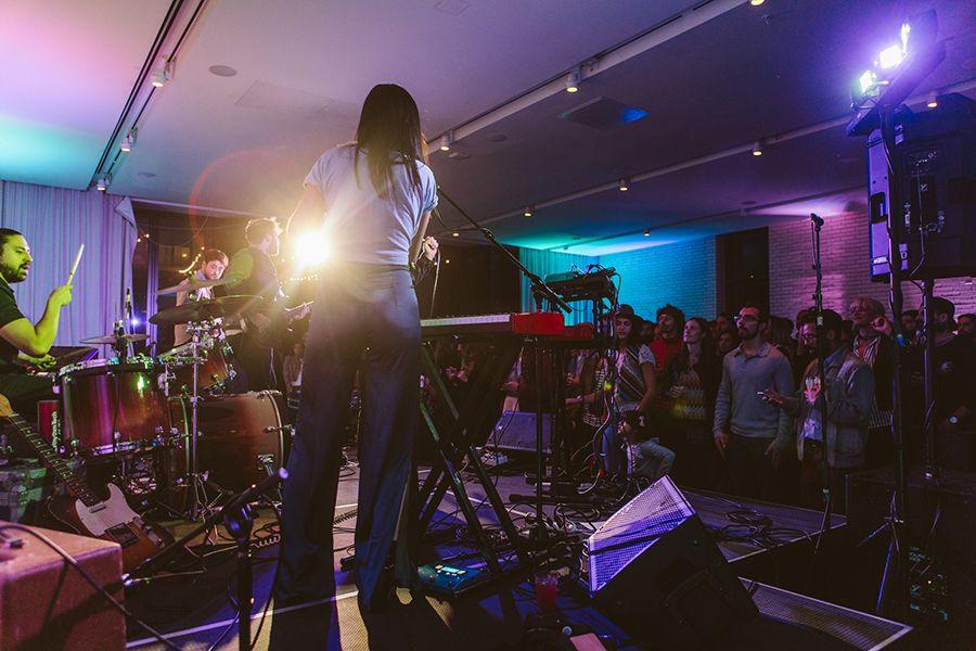 Band performing at South Congress Hotel