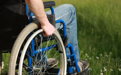 Wheelchair in Grass