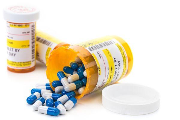 Pill Bottle Spilled Over