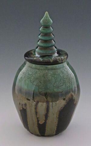 karen-hembree-jade-crystalline-over-oil-spot-pagoda-jar.jpg