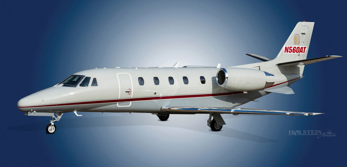 2000 Citation Excel, 560-5129,  N560AT, Ext LS Front View RGB.jpg