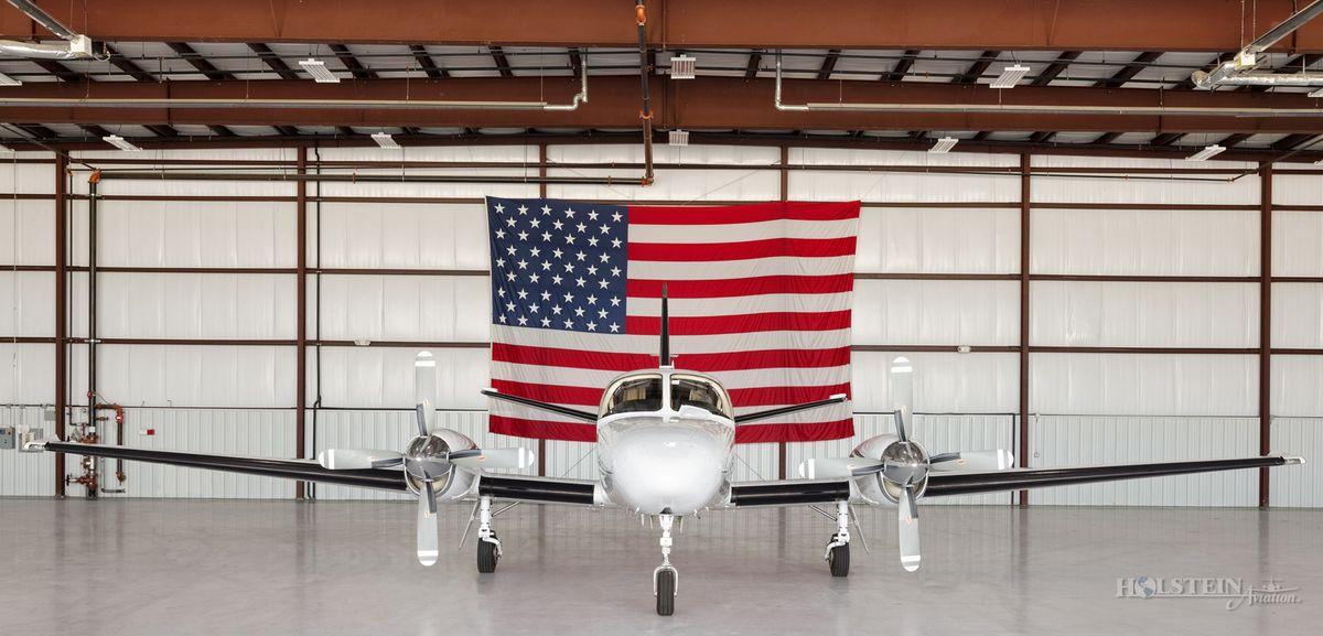 1978 Cessna Conquest II - 441-0012 - N369WK - Ext - Head-On w-Flag RGB.jpg