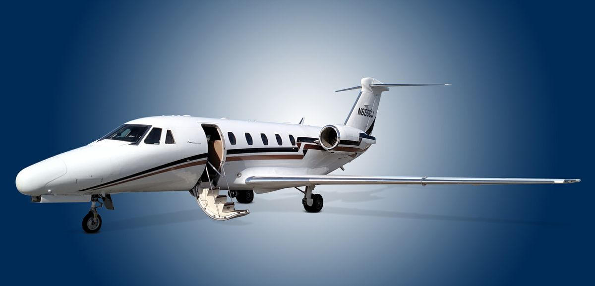 1994 Cessna Citation 650 - 650-7044 - N650CJ - Ext - LS Front View 2 - RGB.jpg