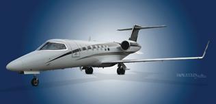 2005 Learjet 40XR, SN 2025, N240RP,  Ext LS Front View WEB.jpg