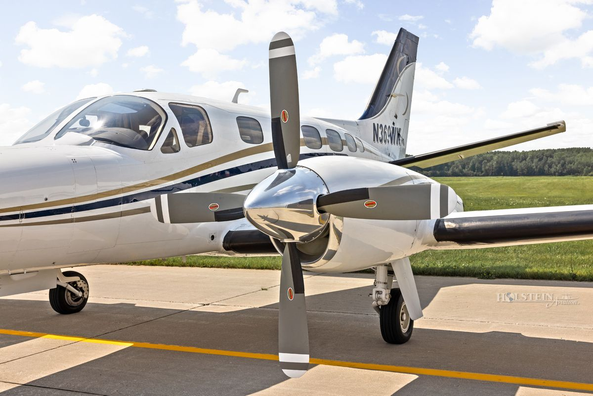 1978 Cessna Conquest II - 441-0012 - N369WK - Ext - LH 4-blade Prop CU-w RGB.jpg
