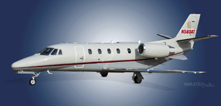2000 Citation Excel, 560-5129,  N560AT, Ext LS Front View WEB.jpg