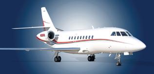 2000 Falcon 2000, SN 117, N26PA -  Ext RS Front View WEB.jpg