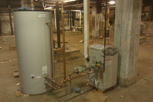 Commercial hot water heater