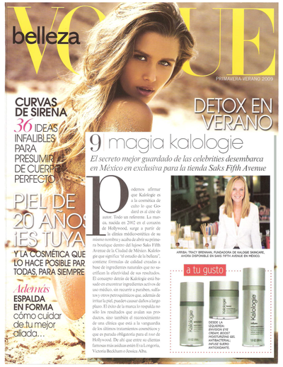 Vogue Magazine feature on Kalologie 360 Spa