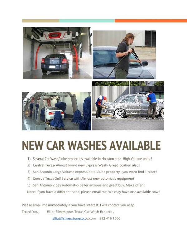 Member classifieds southwest carwash association elliotnew car washes available 1g solutioingenieria Gallery