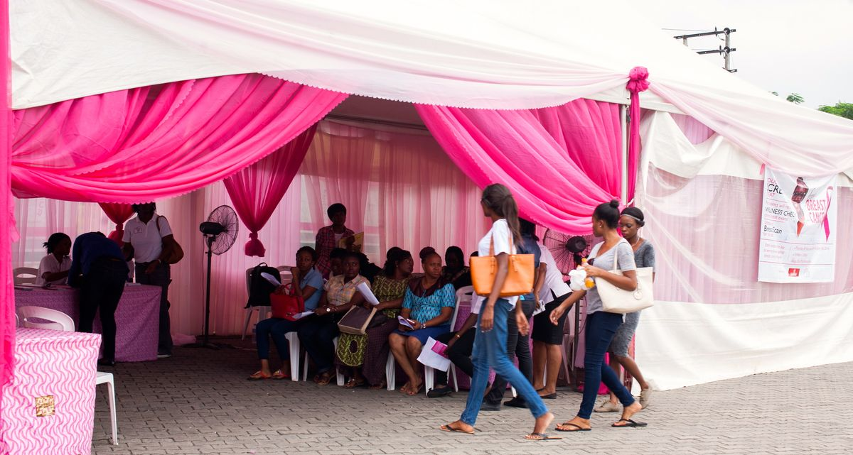 Run For a Cure Africa free breast screening at Shoprite, Ikeja City Mall. June 2016