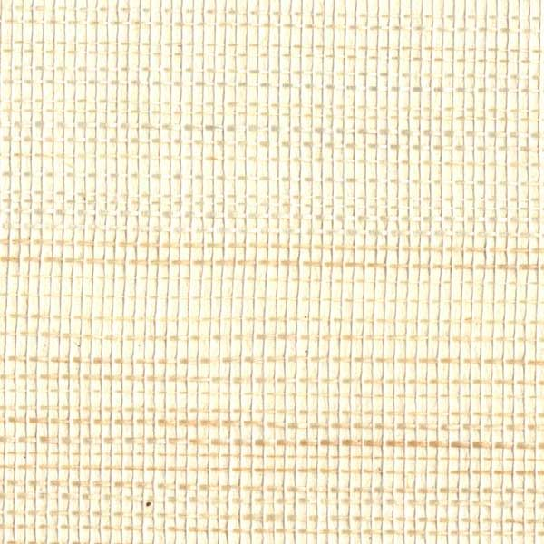 Cream Grasscloth Textured Wallpaper