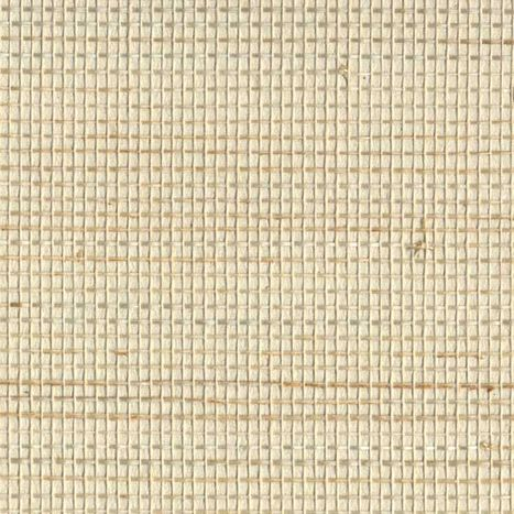 Tan grasscloth textured wallpaper