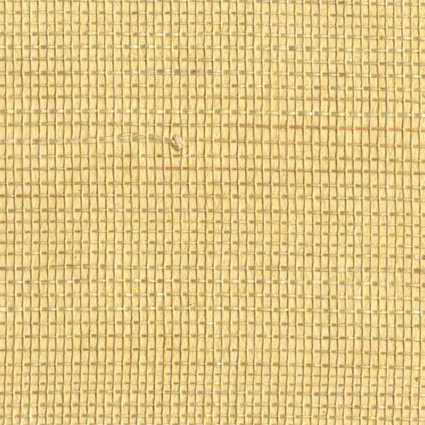 Yellow Textured Grasscloth Wallpaper
