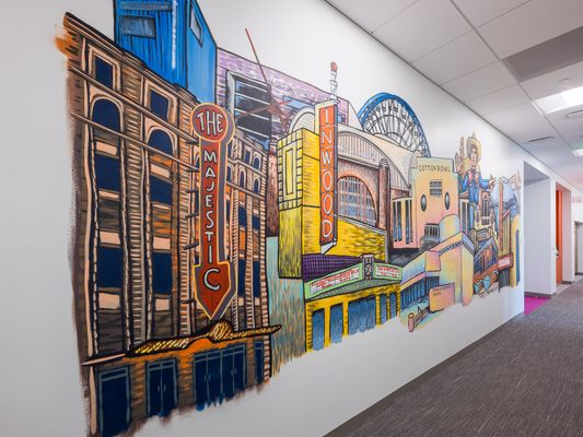 wall mural art for corporate offices