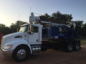 Truck mounted drill