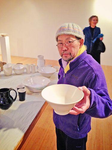 Marfa Book Company Show, Toshi with a Toshi Bowl