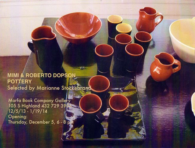Mimi y Roberto Dopson Pottery, Selected by Marianne Stockebrand