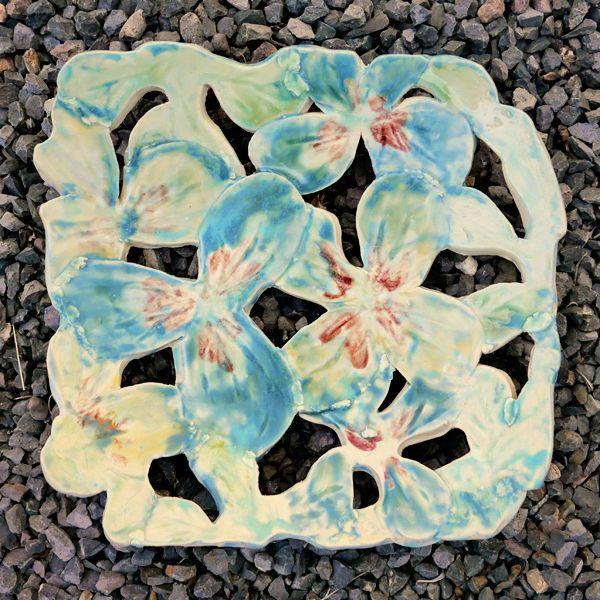 Flower Cut Out Platter