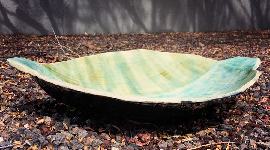 Green and Turquoise Platter