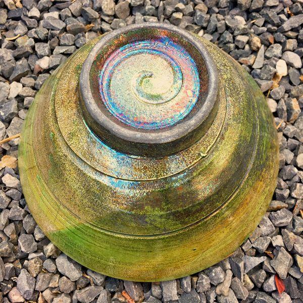 Green Raku Bowl foot ring