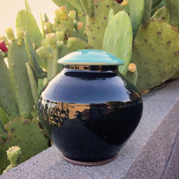 Turquoise top black jar.jpg