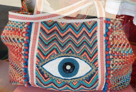 Evil eye tote $110