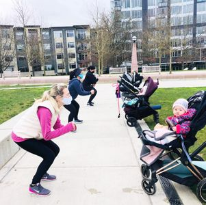 socially distant mommy and me workouts at FIT4MOM Bellevue & Mercer Island